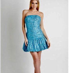 BETSEY JOHNSON Strapless Sequin Formal Dress Prom